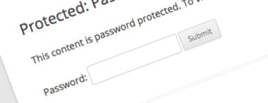 password protect images in WordPress