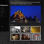 Widescreen featured posts homepage design