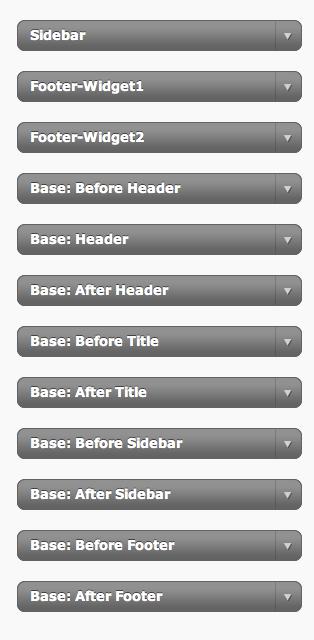 Base Hooks Widgets plugin for WordPress
