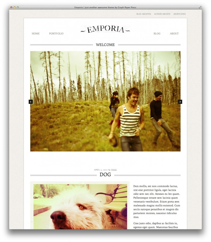 Emporia WordPress theme