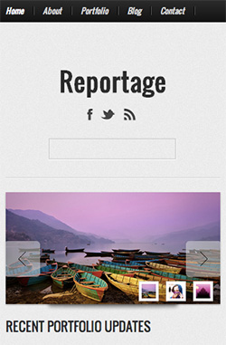 Reportage responsive wordpress theme