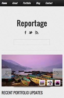 Reportage responsive wordpress theme