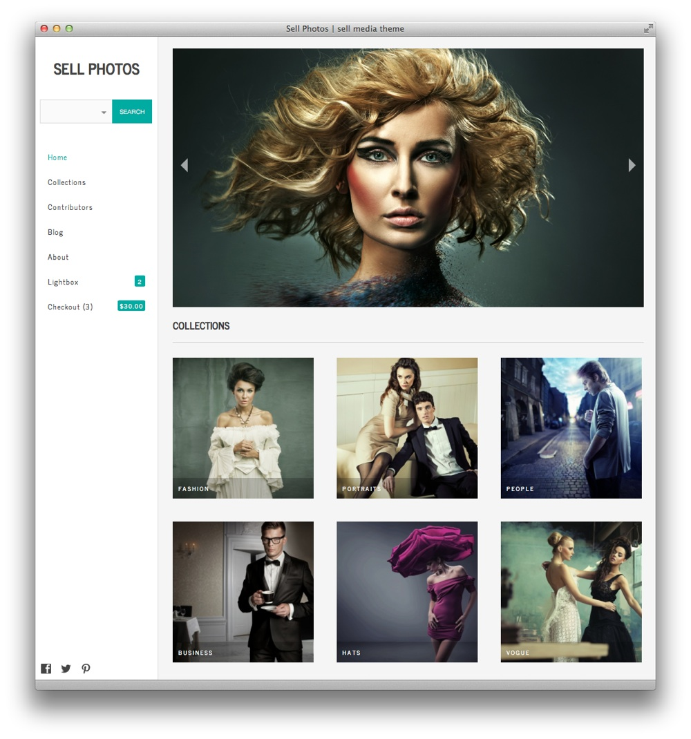 Sell Photos WordPress theme