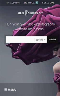 Stock Photography responsive wordpress theme