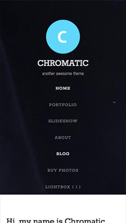 Chromatic responsive wordpress theme