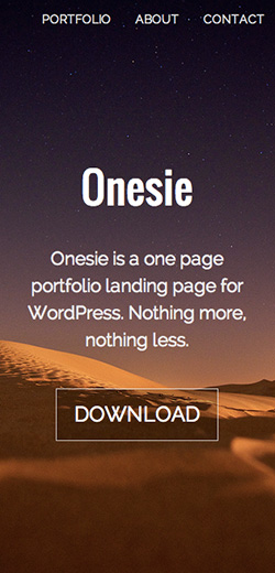 Onesie responsive wordpress theme