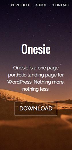Onesie responsive wordpress theme