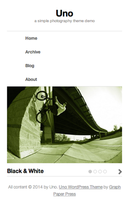 Uno responsive wordpress theme