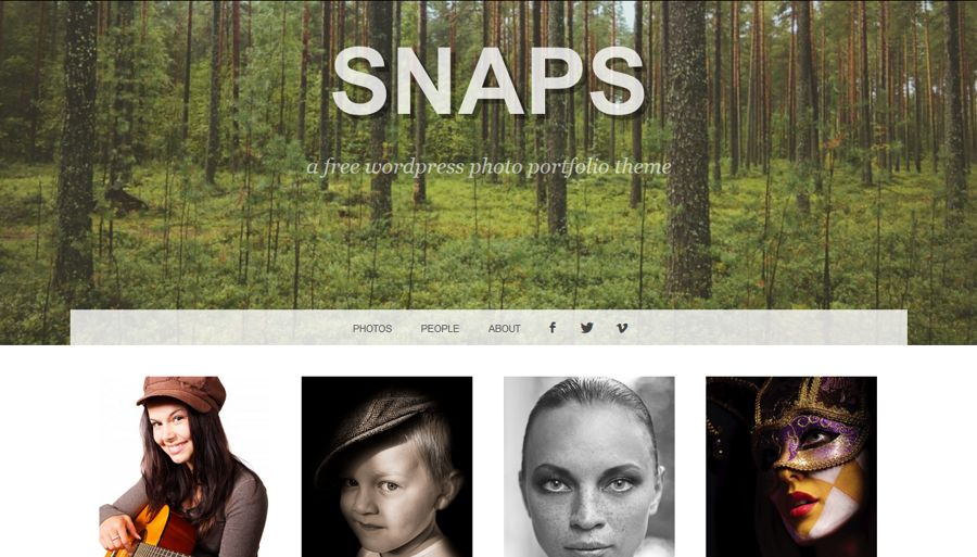 Snaps theme screenshot