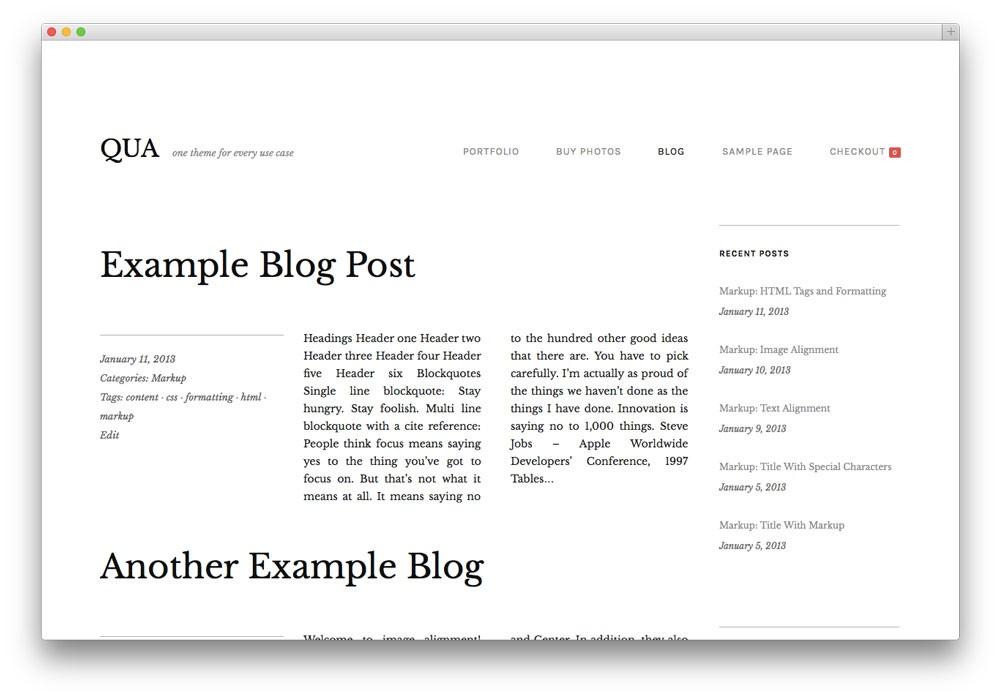 qua-wordpress-theme-blog
