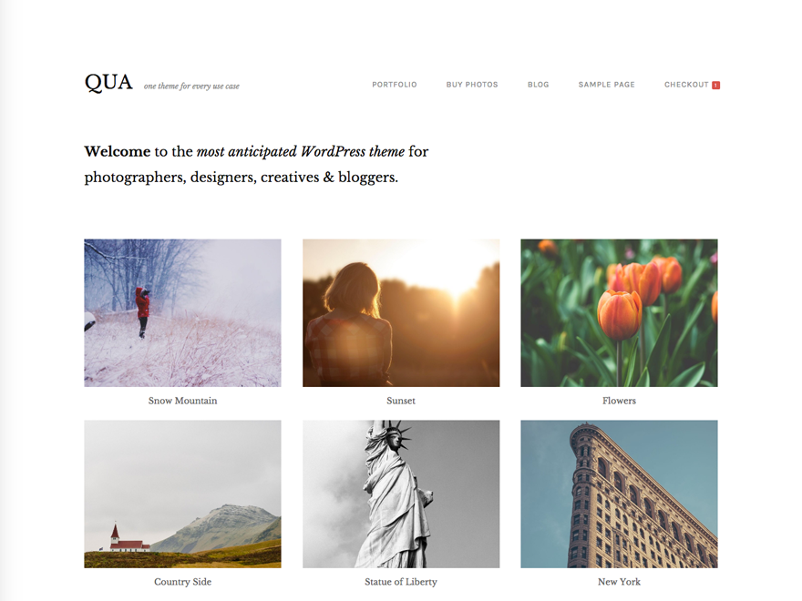 QUA Theme for Creatives