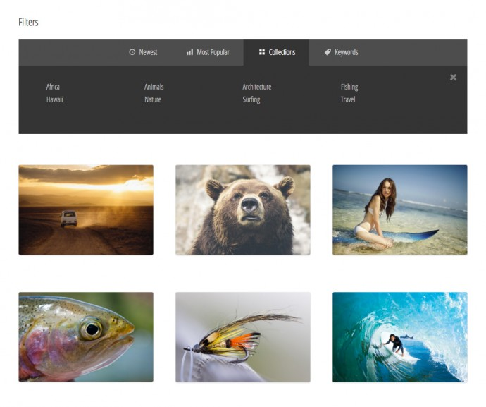 sell-media-filters-collections
