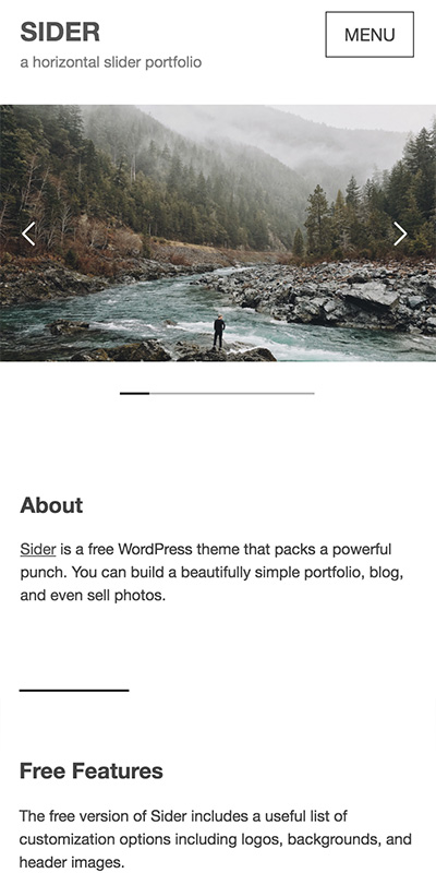 Sider responsive wordpress theme
