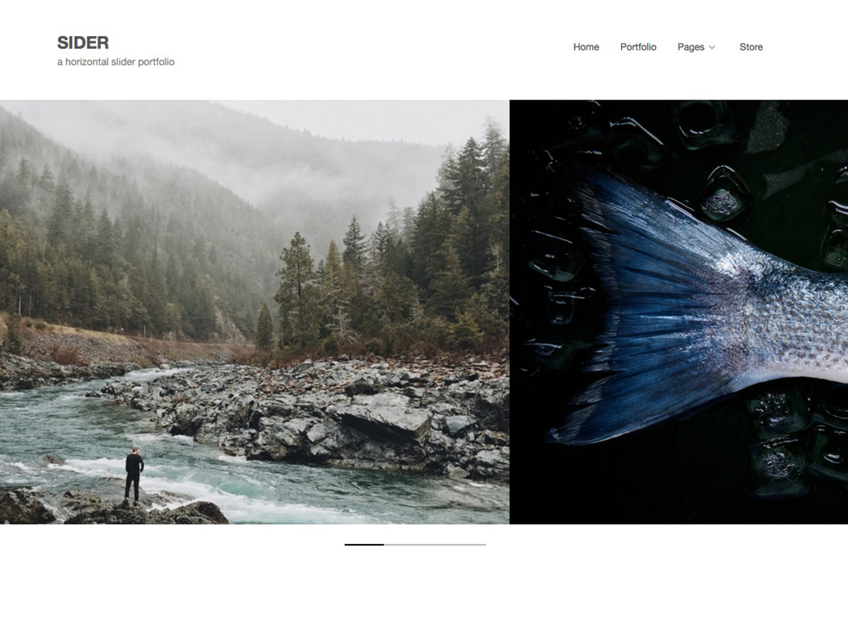 Sider horizontal WordPress theme