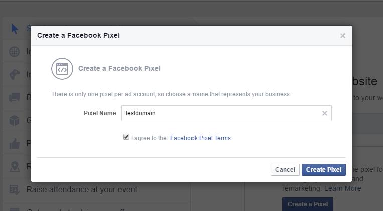 naming facebook pixel