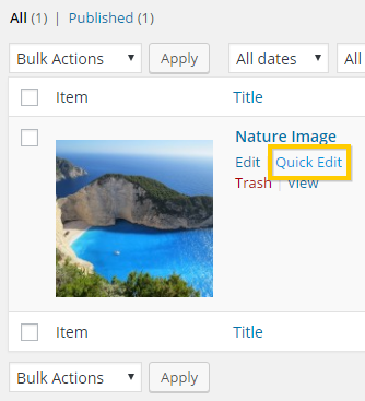 Viewing the products within the Sell Media plugin