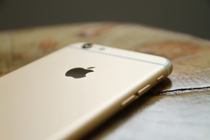 An Apple iPhone.