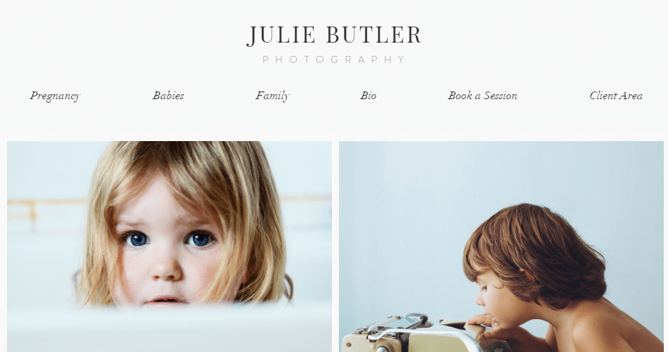 The Wix Family Photography template.