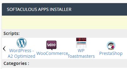 The Softaculous App Installer.