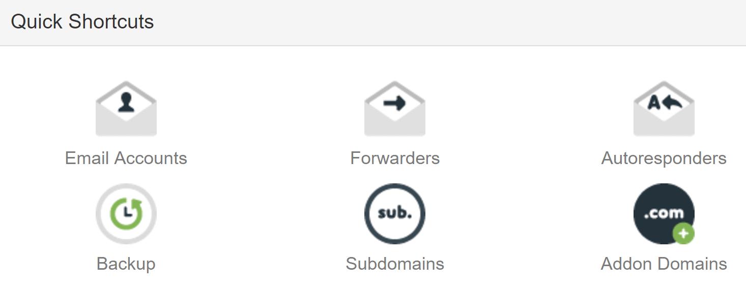 The option to create a subdomain.