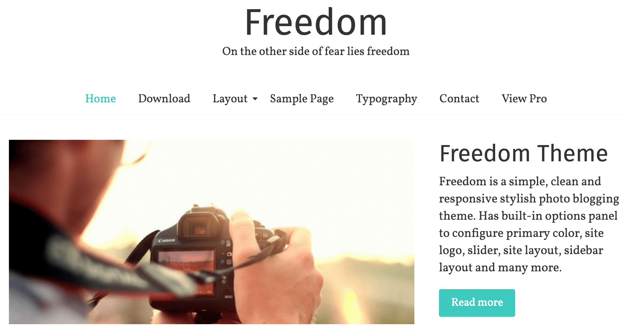 The Freedom theme.