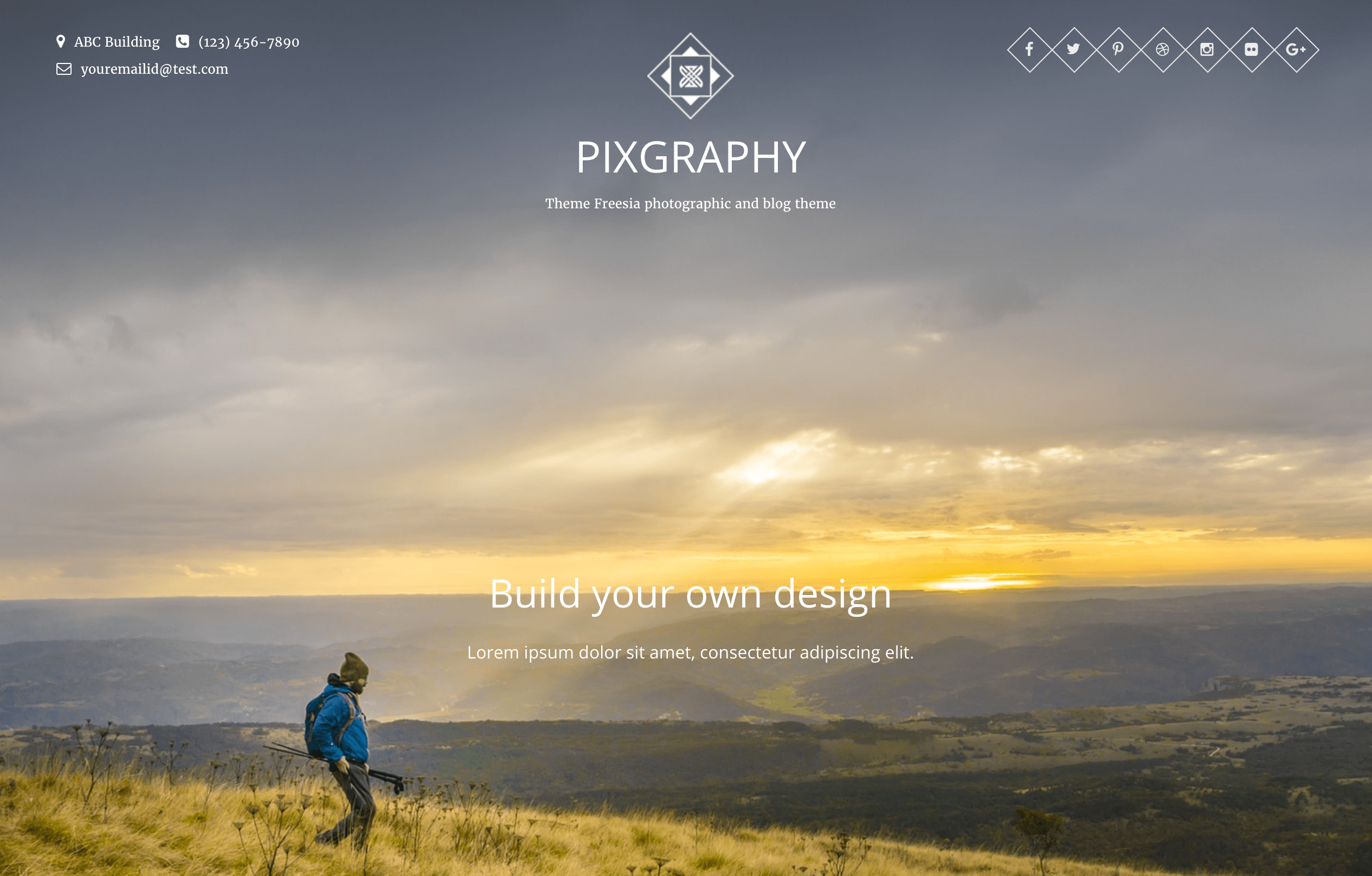 The Pixgraphy theme.