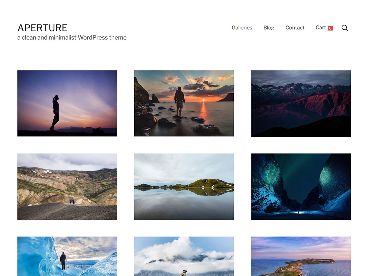 aperture wordpress theme