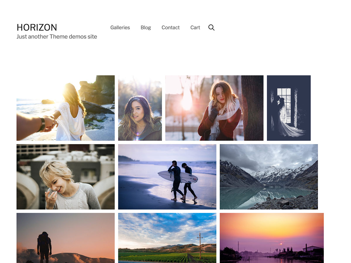 WordPress themes for photographers, artists and businesses